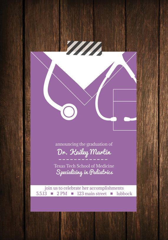 nurse bling  custom graduation invitations