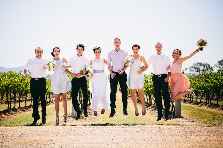 bridal party jump // Ballyhoo Photography