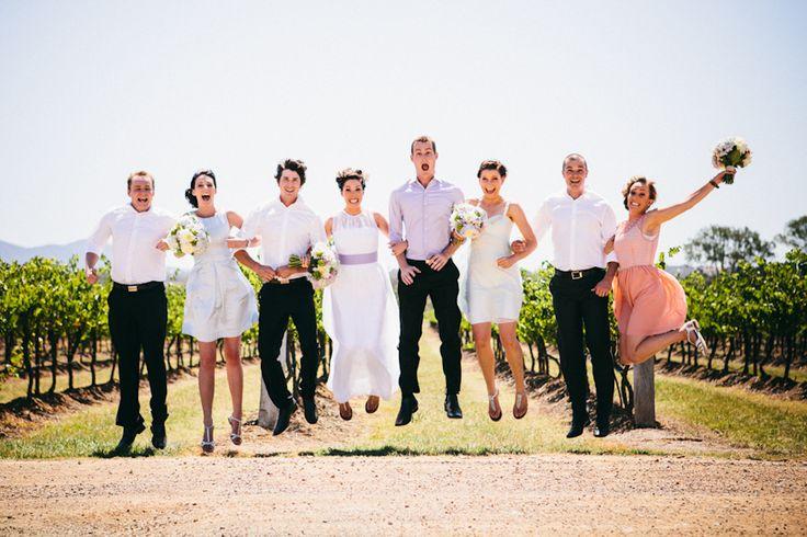 bridal party jump // Ballyhoo Photography