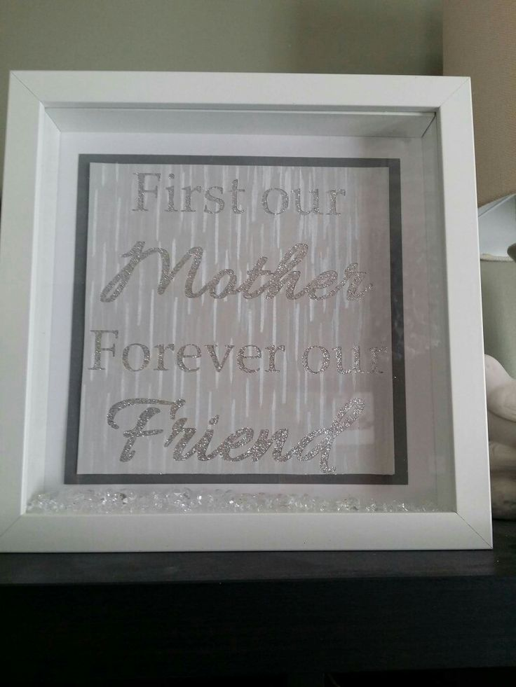 First our mother, forever our friend, grey, silver glitter, mothers day gift frame with clear crystals. https://www.facebook.com/Thorny-Tree-Gifts-972127826132391/