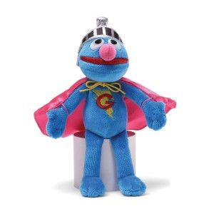 Sesame Street Super Grover Beanbag Stuffed Animal GUND has teamed up with Sesame Street to make playtime a more huggable experience.  It is perfect for car/plane rides. The cape is pink but Grover is a modern stuffed animal, therefore he is a girl and a boy toy. http://awsomegadgetsandtoysforgirlsandboys.com/gund-superhero/ Gund Superhero: Sesame Street Super Grover Beanbag Stuffed Animal