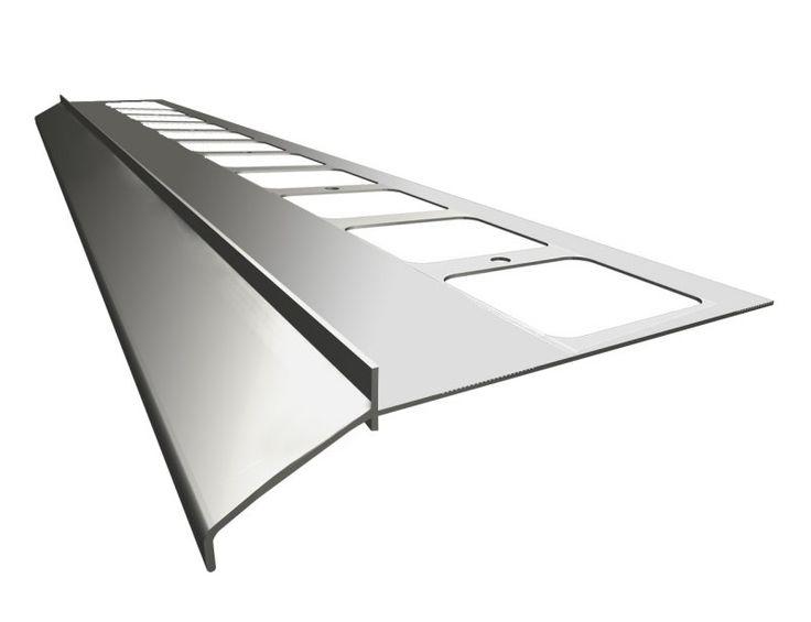 Okapový profil K100. Ukončovací profil pre terasy a balkóny s keramickou dlažbou.  #ukončovacíprofil #keramickádlažba #art4you