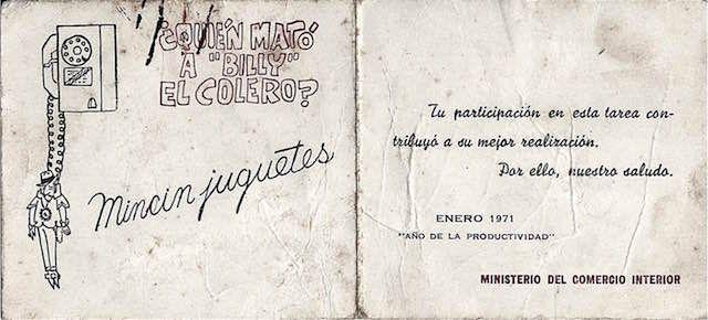 """En 1971, los turnos para la venta anual de juguetes se repartieron por teléfono. Se dice que en La Habana fueron tantas las llamadas para adquirir un turno que las líneas telefónicas colapsaron. Algunas personas, los llamados """"coleros"""", se dedicaron a llamar por teléfono para conseguir turnos que después vendían. Contra ellos el estado lanzó …"""