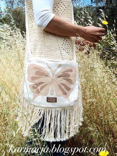 KARMA: Butterfly bohemian bags Ƹ̴Ӂ̴Ʒ