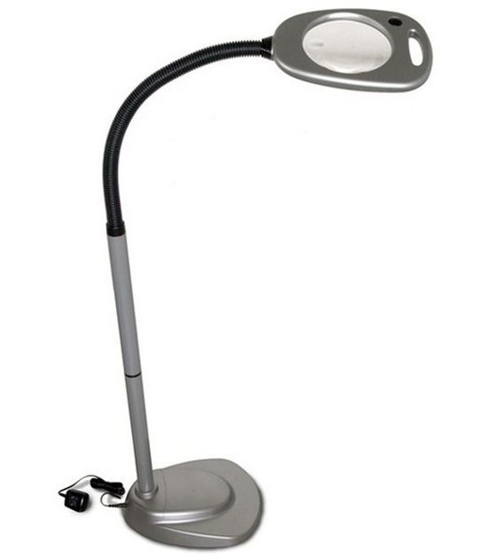 floor stand magnifier lamp grey black floors lamps and grey. Black Bedroom Furniture Sets. Home Design Ideas