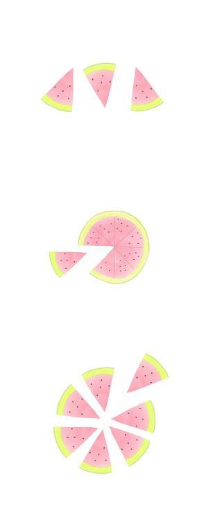 #Watercolour #Watermelon #dessert #food #fruits