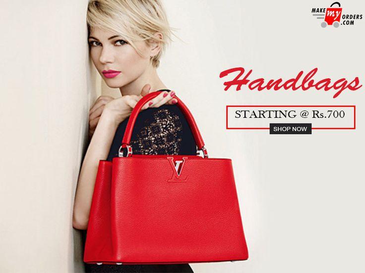 Grab the perfect #handbag online either it be designer handbag, coach handbag, small handbags, trendy handbag, and many more from makemyorders.com https://www.makemyorders.com/women/bags/handbags