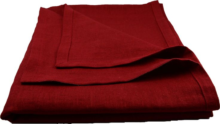Red Christmas tablecloth in linnen from E&L by LUNDQVIST