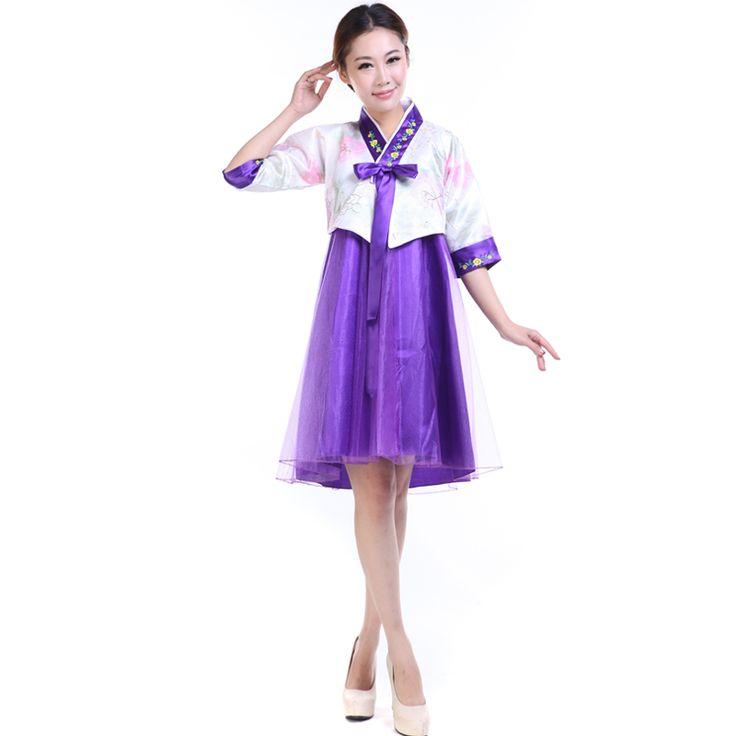 2017 yaz mavi kore geleneksel hanbok kostüm kadınlar için kore hanbok elbise klasik dans kostümleri
