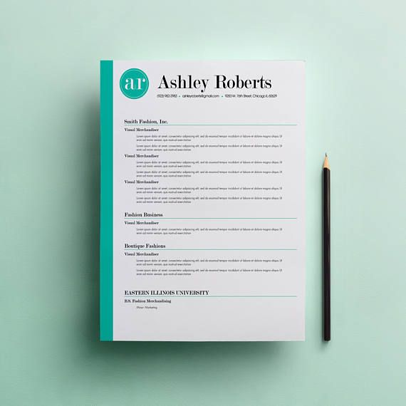 Resume Template Cv Template The Ashley Roberts By Phdpress: 70 Best Images About Resume & Cover Letters On Pinterest
