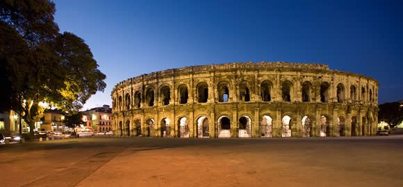 Nimes - Roman city in Languedoc province in southern France.