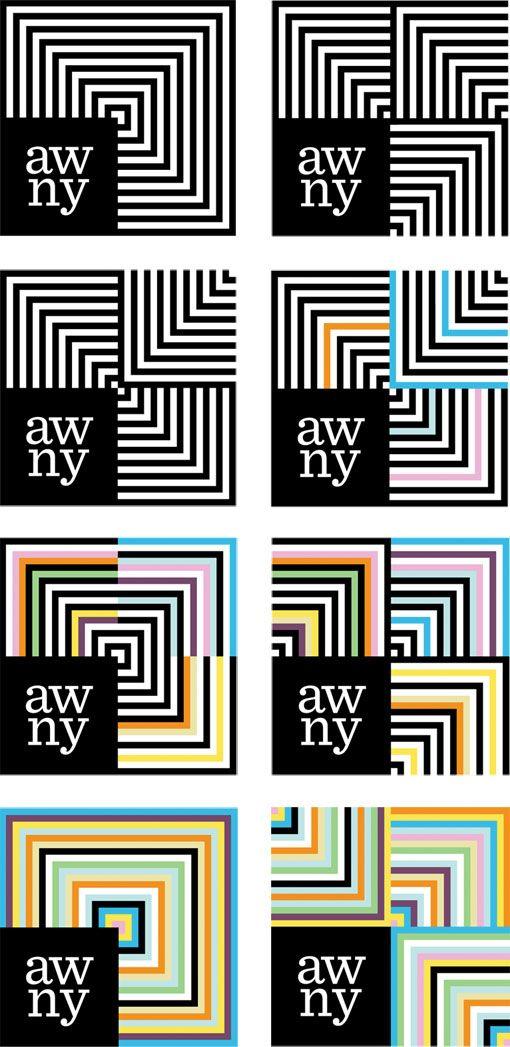 Dynamic identity that Matt Luckhurst created for the Advertising Women of New York organization.