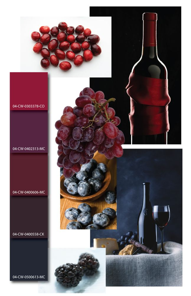 Wall Colour Inspiration: Wine Color Inspiration, Wine Color Mood Board, Wine Color
