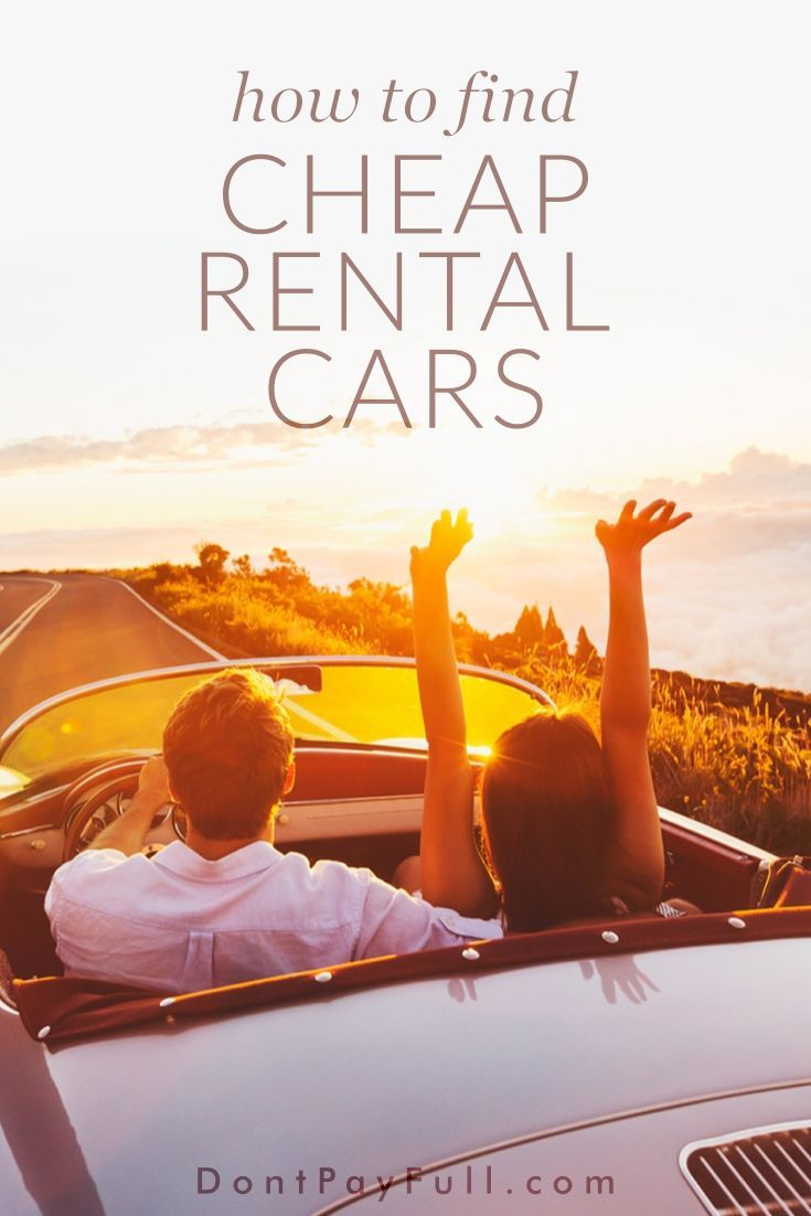 If you got a deal on your holiday, you shouldn't pay more on a rented vehicle. Luckily, we have some great tips of how to find cheap rental cars now. #DontPayFull