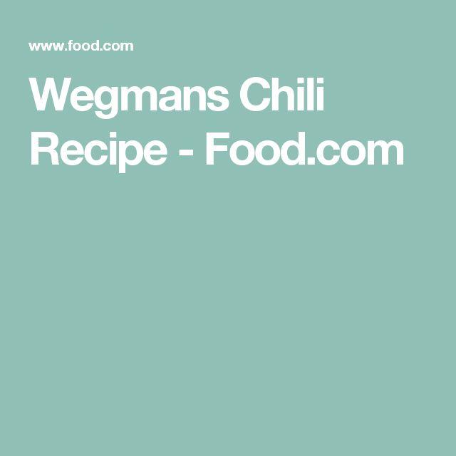 Wegmans Chili Recipe - Food.com