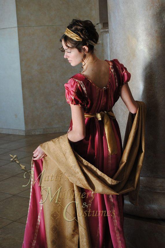 Evening Formal Regency Jane Austen Ball Gown Dress by MattiOnline