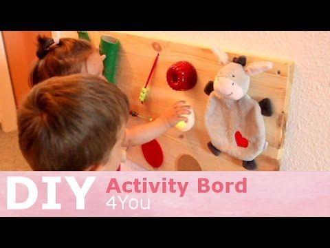DIY Spielzeug | Activity Board| schnell, einfach und günstig - YouTube