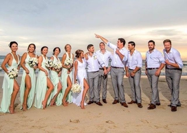 Our Zeredah Convertible being rocked by these gorgeous ladies. Beach wedding perfection. Tie this dress anyway you like to make it individual. Available at Nora and Elle.
