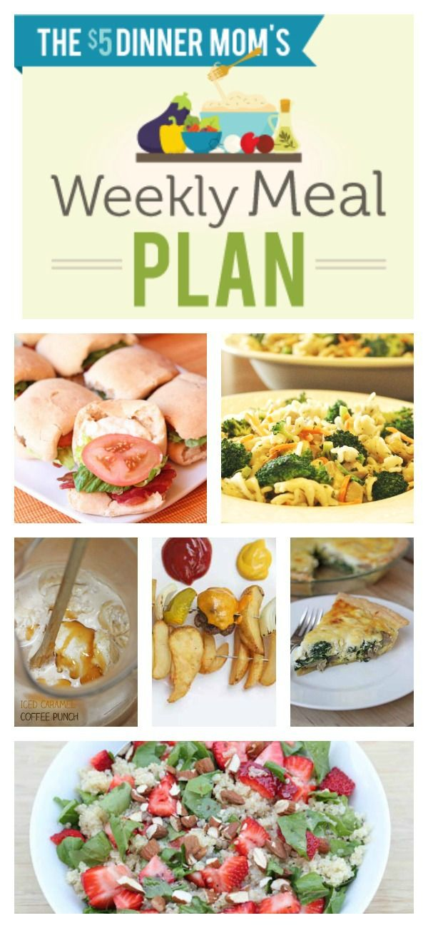 Free Weekly Meal Plan with Printable List for week of June 1st | 5DollarDinners.com