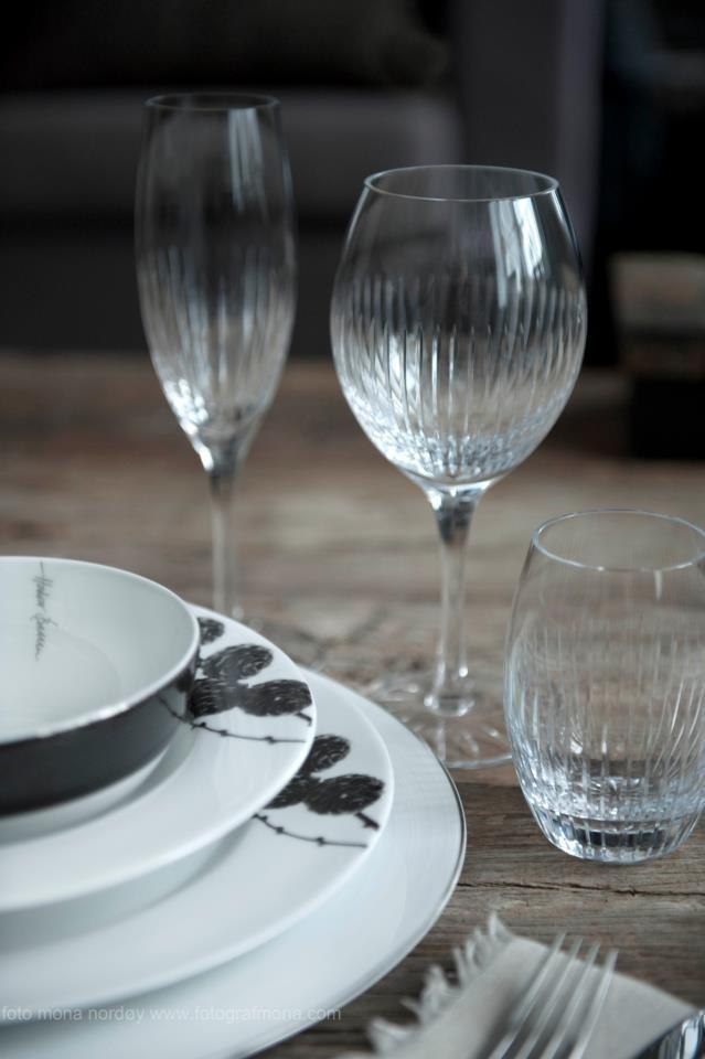 Magnor handmade crystal glass and porcelain.