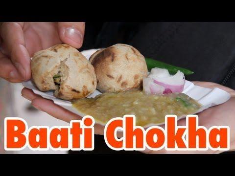 Indian Round Roti (Baati Chokha) on a Lane in Varanasi, India - http://www.youtube.com/watch?v=7WjU3U939L8