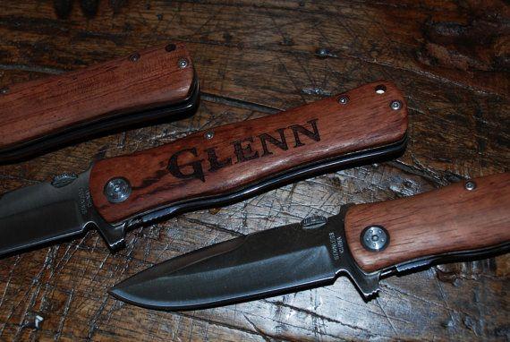 5 Engraved Knives custom knife personalized by MemoriesMadeToronto