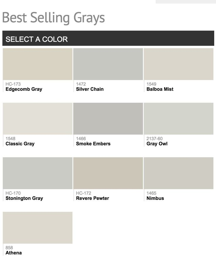 Best Selling Benjamin Moore Gray Paint Colors Silver Chain Stoningen And Gray Owl