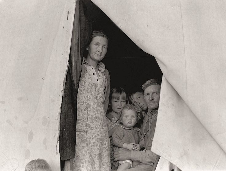 The History Place - Dorothea Lange Photo Gallery: Tents as Home: FSA Migratory Labor Camp