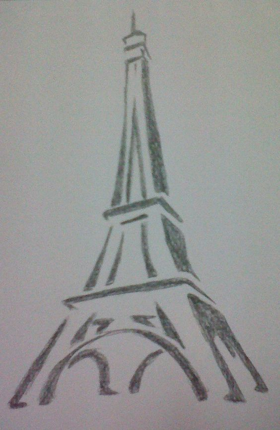 Learn How To Draw The Eiffel Tower Drawing Pinterest Art