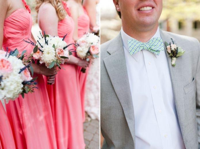 coral, mint  grey. #groom