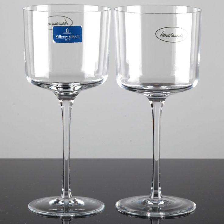 2 Villeroy & Boch Cascara 21 cm hohe Rotweingläser / Wassergläser Kristall Glas