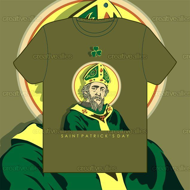 Modern Day St. Patrick T-Shirt by amo  on CreativeAllies.com