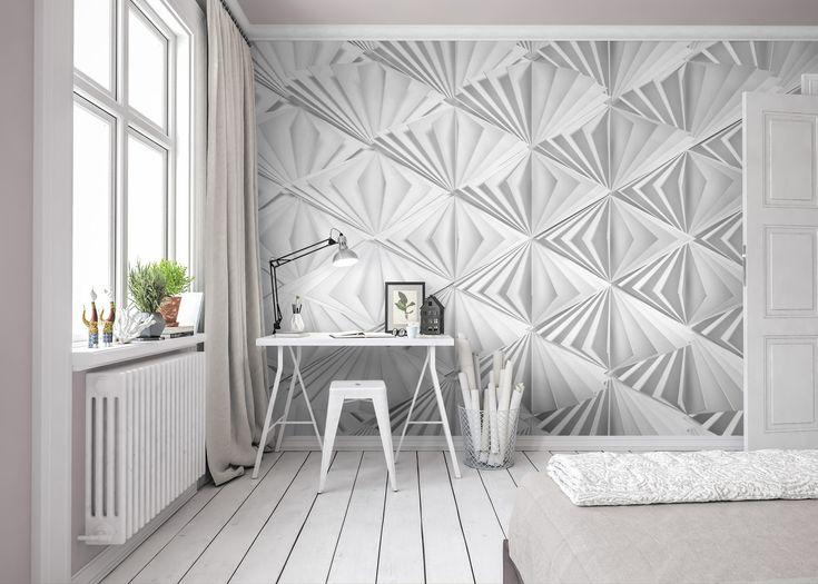 Die besten 25+ 3d Tapete für Wände Ideen auf Pinterest 3D - futuristische buro einrichtung mit metall 3d wandpaneelen