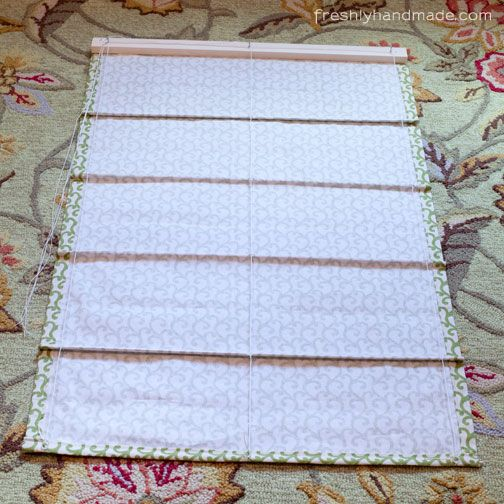 Freshly Handmade Roman Shade Tutorial Tenda Tende A