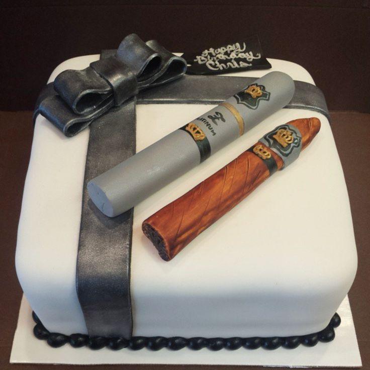 Cigar birthday cake by Frostings Bake Shop
