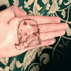 Ridiculously cute gif. May this little dinosaur cheer you up this Monday.