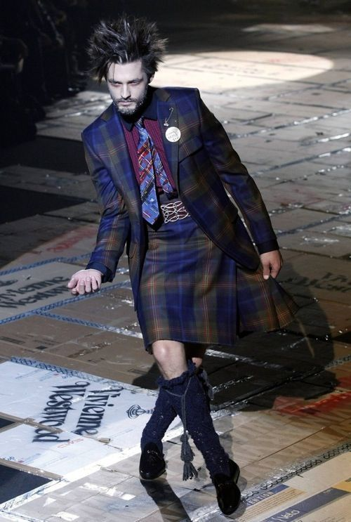 Vivienne Westwood kilt. please no...only if you are in the country of its origin