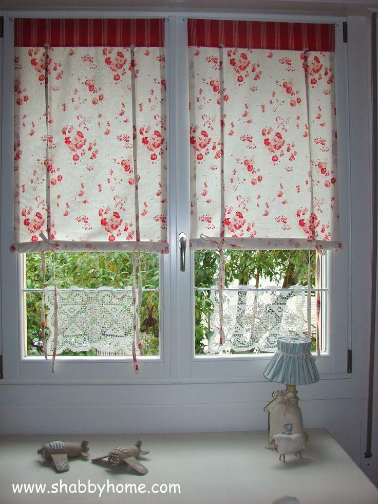 Shabby Home: Tutorial Como hacer cortinas Shabby-Chic - Tutorial de Como coser un toldo Shabby Chic