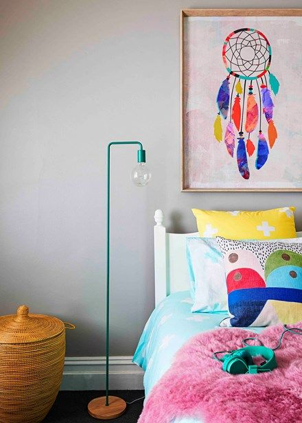 A bright colour mix helps to create fun space | Home Beautiful Magazine Australia