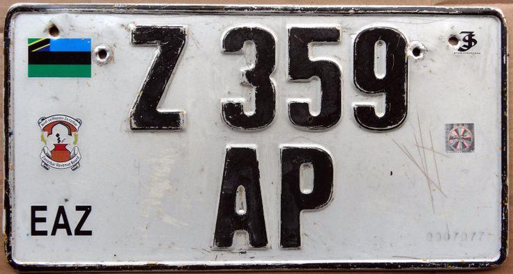 Zanzibar Car License Plate