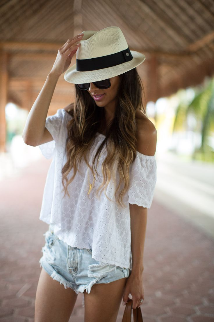 j crew Panama hat love the hat & top