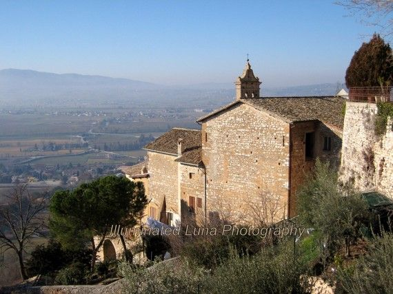 Villa in Umbria - a Signed 8 x 10 Fine Art Photograph from Trevi, Italy by IlluminatedLuna on Etsy