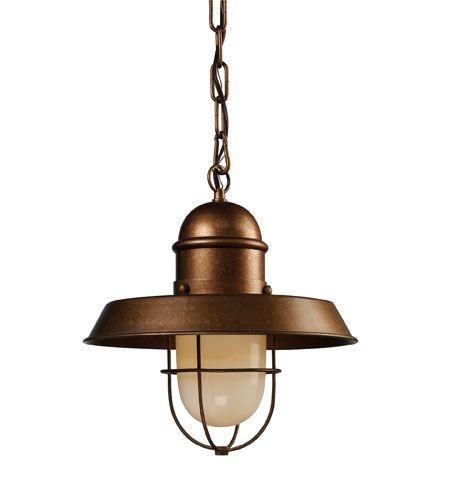 ELK Lighting Farmhouse 1 Light Pendant in Bellwether Copper 65049-1