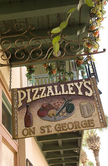 pizzalleys St Augustine, FL... has the best pizza, & cool lil back patio