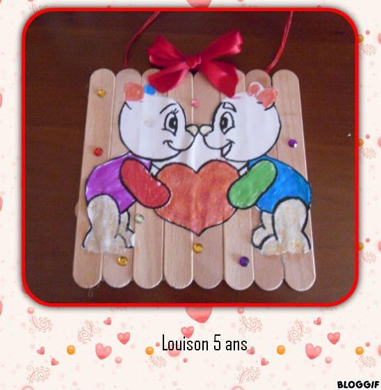 Le cadeau de la saint valentin de louison bricolage st - Bricolage st valentin pinterest ...