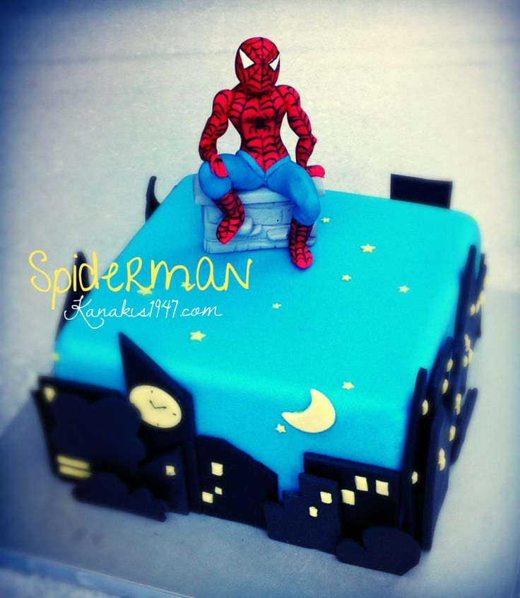 The party is safe! ..SpiderMan is around!  http://www.kanakis1947.com/#!premium-bithday-cakes/ci50