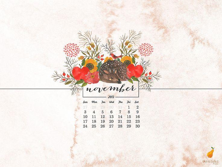 2013 iPad November calendar