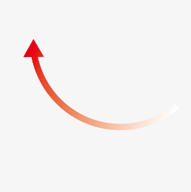 augmentation de la fl u00e8che rouge  rouge  rose  courbe image