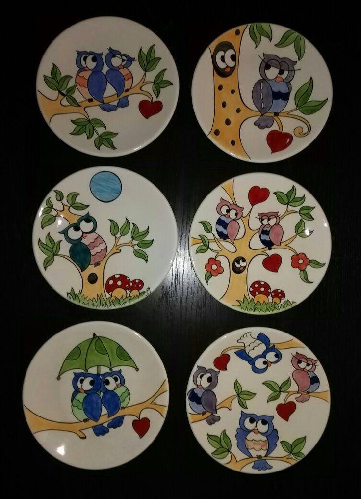 MK ÇİNİ - 6 adet kahvaltı tabağı