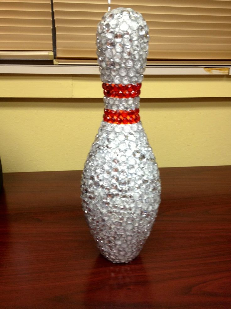 Bedazzled bowling pin